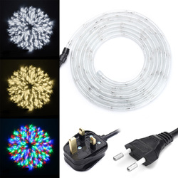 4M Waterproof Flexible 64LEDs Tube Rope Strip Light for Christmas Party Decor AC220V