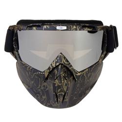 Motorcycle Goggles Skiing Skateboarding Motocross Detachable Full Face Antifog Helmet Mask Adult