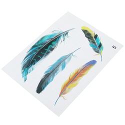Imitation Feather Motorcycle Tank 3D Stickers Three Dimensional Decals