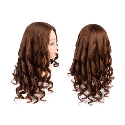 80% Human Hair Mannequin Head