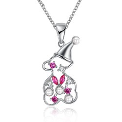 INALIS Snowman Zirconia Necklace Jewelry Christmas Gift