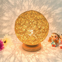 60W E27 Dimmable Sepak Takraw Wood Desk Light Night Lamp AC110--220V