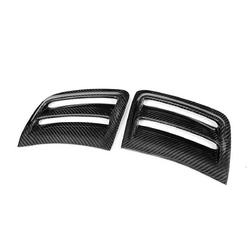 Car Bumper Carbon Fiber Air Vent Duct Cover For Benz W204 C63 AMG 08-11