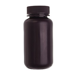 250mL PP Plastic Brown Bottle Wide Mouth Laboratory Sample Reagent Chemicals Storage Bottle