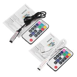 17 Keys USB Black White RF Remote Controller for RGB 5050 3528 LED Strip Light DC5V