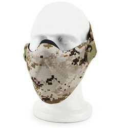 Camouflage Half Face Mask For Airsoft Game CS Paintball Tactical Military Christmas Costume