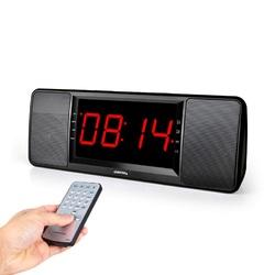 LEADSTAR HiFi Dual Unit Wireless bluetooth Speaker LED Display Alarm Clock 1800mAh TF Card Subwoofer
