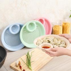 Straw Creative Dumpling Vinegar Dish Double Dribbling Microwave Home Plate Boiled Dumplings Fruit Plate
