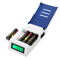Doublepow K209 4 Slot Quick Charge AA AAA Rechageable Battery Smart Charger with Display