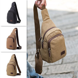 Canvas Casual Multi-function Travel Chest Bag Crossbody Bag