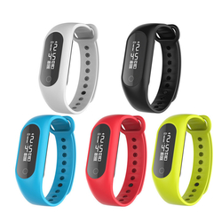 B15S 0.86inch OLED Heart Rate Blood Oxygen Pressure Monitor Pedometer Smart Bracelet For iphone X 8