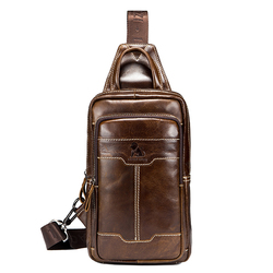Genuine Leather Vintage Business Chest Bag Crossbody Bag