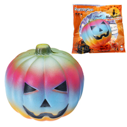 10CM Colorful Pumpkin Toy Simulation PU Bread Halloween Gifts Soft Decor Toy Original Packaging