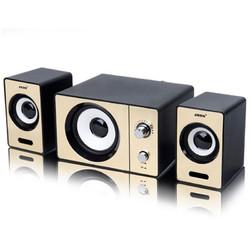 SADA D-200D Mini Portable Stereo Deep Bass USB 3.5mm Aux Speaker Desktop Loudspeaker