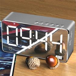 Bakeey™ Q9 2000mAh LED Display Alarm Clock TF Card AUX FM Radio bluetooth Speaker With Mic