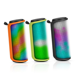 LEnRuE M4 Outdoor Portable LED Colorful Lamp TF Card AUX Bass bluetooth Speaker With Mic