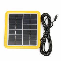 6V 2W 148*138*18mm Laminated Polycrystalline Mini Solar Panel With 3M DC Head Line