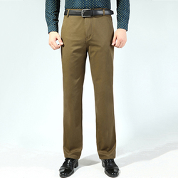 Men's Buiness Casual Loose Thick Cotton Suit Pants