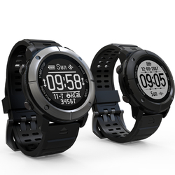 Category: Dropship Smart Devices, SKU #1255205, Title: Uwear UW80C OLED 1.2 inch IP68 Heart Rate Monitor GPS Compass Sport SmartWatch