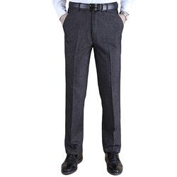 Thick Straight Business High Waisted Trousers