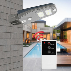 Solar Powered  PIR Motion Sensor 30LED Street Light Waterproof Outdoor Wall Lamp with Remote