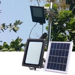 Solar Powered 150 LED Radar Motion Sensor Flood Light Waterproof Outdoor Warm White Security Lamp