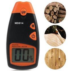 MD814 Digital Wood Moisture Portable Meter 4 Spare Sensor Pins with Digital LCD Display Testing Tool