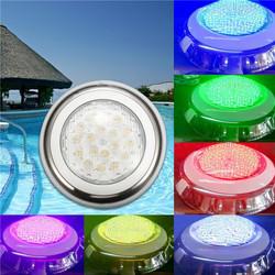 18W RGB IP68 Waterproof Resin Swimming Pool Light Multi-Color Underwater LED Night Lamp 12V