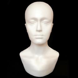 Male Polystyrene Foam Mannequin Stand Model Display Head