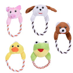Dog Cat Toys Pets Puppy Interactive Plush Chew Squeaker Sound Toy