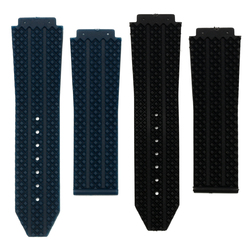 25mm Replacement Black Blue Silicone Rubber Watch Band Strap For Hublot Big Bang