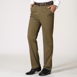 Mens Business Cotton Breathable Suit Pants