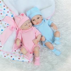 NPK 10 Inch 26cm Newborns Reborn Baby Soft Silicone Doll Handmade Lifelike Baby Girl Dolls Play House Toys Birthday Gift