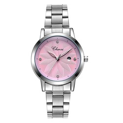 CHENXI 303L Luxury Flower Dial Case Ladies Quartz Watches