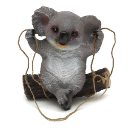 Garden  Home Decorations Koala Swing Animals Ornaments Yard Statues