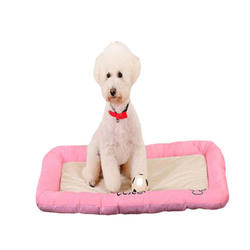 Pet Dog Beds Anti-bite Ice Silk Mesh Cloth Dog Cat Bed House Kennel Nest Pet Bed  Dogs Cushion