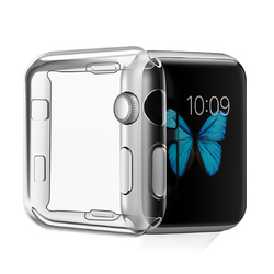 38/42mm Clear TPU Front Case Cover Screen Protector for Apple Watch Series 2/3