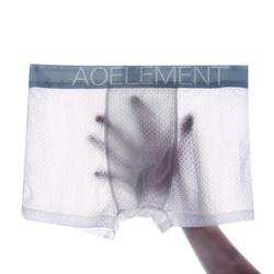 Mens Quick Drying Sport Ice Silk Mesh Underwear Briefs Boxer