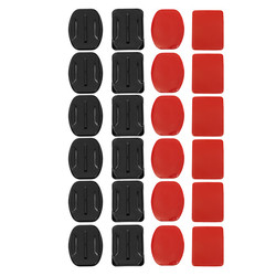 24 pcs Helmet Accessories Flat Curved Adhesive Pad Mount For Gopro Hero 3 3+ 4 5