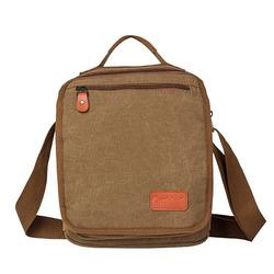 Casual Men Canvas Crossbody Bag Shoulder Bag