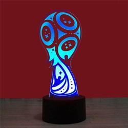 3D World Cup LED Night Light USB Touch Control/Remote Control 7 Color Table Light