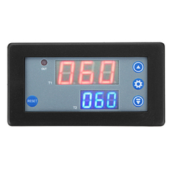 Digital Dual Display Time Cycle Timing Delay Relay Module 1500W 10A