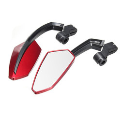 2PCS Red Motorcycle Mirrors Universal 8mm 10mm Rearview Side Mirror For Yamaha/Kawasaki