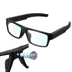 Category: Dropship Eyewear, SKU #1280358, Title: XANES G2 16G 1080P 5 Million Pixel Touch Control Mini Smart Glasses Camera Sport Video Camcorder