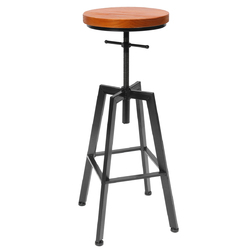 Category: Dropship Hardware & Accessories, SKU #1282816, Title: Adjustable Bar Chairs Wood Iron Counter Stool Retro Industrial Rotating Lift Bar Decorations