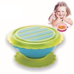 Baby Sucker Bowl Antiskid Feeding Tableware Toddler Baby Kids Bowl Child Feeding Lid Training Bowl