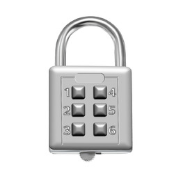 KCASA LK-21 6 Digit Push Button Combination Padlock Travel Suitcase Luggage Security Password Lock