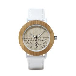 BOBO BIRD E24*W Unique Design Leather Strap Quartz Watches