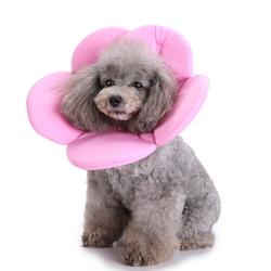 New Soft Sponge Flower Shape Dog Cat Collar Pet Elizabeth Circle Wound Healing Anti-Bite