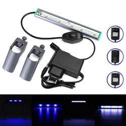 20cm 18 LED Fish Tank Aquarium Light White Blue Lamp Clip on Waterproof Bar AC110-240V